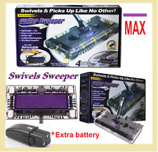 New_Walter Swivel Sweeper Latest Cordless Max Quad Brush with 2 batteries