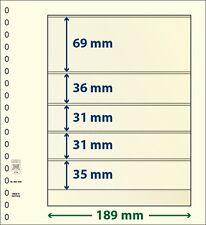 Lindner T-Blanko-Blätter mit fünf Taschen im 10er Pack  Art.-Nr. 802 506