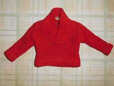 Vintage Ken Doll Fashion Pak Red Pullover with Collar Sweater 1962 Barbie