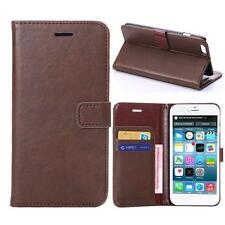 For iPhone 6 Plus/6s Plus Brown Genuine Real Leather Business Wallet Case Cover
