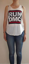 RUN DMC T SHIRT Vest Tank Top T-Shirt TOP Ladies Women Girls New Hip Hop Group