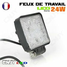 FEUX DE TRAVAIL CNJY LED 24W CARRE IP67 12 24V PROJECTEUR TRACTEUR KUBOTA ISEKI