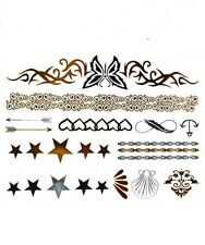 Assorted Jewelry Foiled Temorary Tattoos