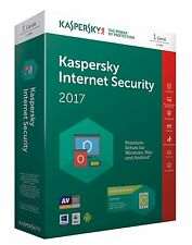 Kaspersky Internet Security 2017 - 1 PC-1 Jahr / Vollversion deutsch [KEY]