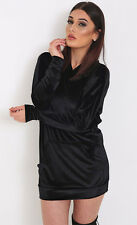 Womens Megan Inspired Oversized Velour Hoody Velvet Sweatshirt Hoodie Lounge Top