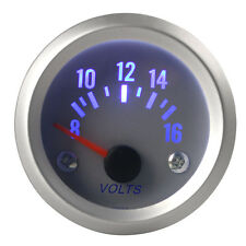 """Blue LED 2"""" 52mm 8-16V Universal Auto Car Motor Voltage Meter Gauge Voltmeter"""