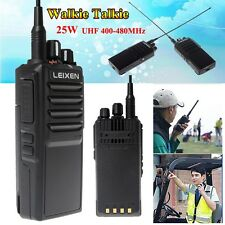 WEIXEN Dual Band UHF/VHF 400-480MHz 25W CTSS DCS Handy 2-way Radio Walkie T1