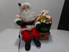 Santa On A Bench Motionette Animated Talking Figure Holiday Creations 1992