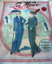 VTG 1910s PARIS FASHION & SEWING PATTERN MAGAZINE LA MODE 1913 ART NOUVEAU