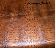 "SALE Alligator leather CUSTOM 24""x 55"" Perfect for HARLEY BOBBER Motorcycle Seat"