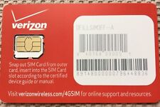 New Verizon Micro SIM Card - 4G LTE DFILLSIM3FF Prepaid or Postpaid