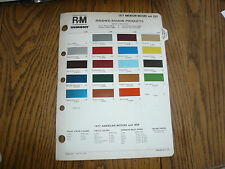 1977 AMC Jeep Color Chip Paint Sample