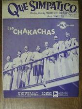 PARTITION MUSICALE BELGE LES CHAKACHAS QUE SIMPATICO
