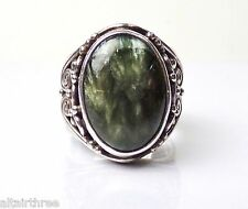 Bold Sajen Sterling Silver Ring Seraphinite Designer 925 Band Offerings