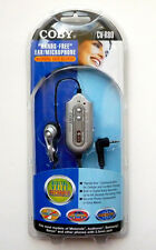 New COBY Hands Free Ear/Microphone With Voice Recorder