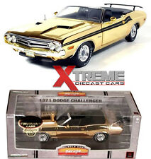 GREENLIGHT 50819 24K GOLD 1:18 1971 CHALLENGER CONVERTIBLE CHASE DIECAST L.E 66
