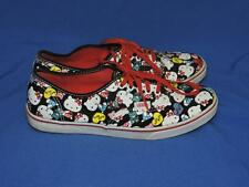 Hello Kitty VANS 8.5 Womens Tennis Shoes Sneakers Black Red 8 1/2 Off The Wall