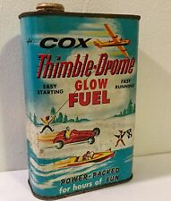 Vintage Old Auto Advertising Tin Speed Boat Car Racing Airplane Engine Fuel Cox