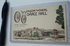 Vintage WAGON WHEEL DANCE HALL 1920'S-30'S post card 3x5in. Santee CA Cowboy