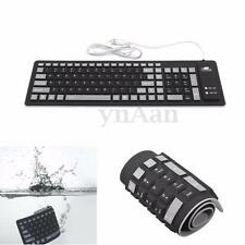 Flexible Silicone USB Roll Up Waterproof Silent 103 Keys Keyboard for Laptop PC