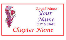 #24R PERSONALIZED MAGNETIC NAME BADGE FOR THE RED HAT LADIES OF THE SOCIETY