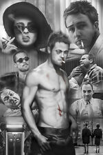 Fight Club Collage Poster! Brad Pitt White collar soap maker man cave New!