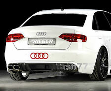 AUDI RINGS A4 A6 A8 RS3 RS4 Q5 S- Line Racing Decal sticker emblem logo RED