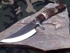 """Marbles Upswept Skinner Knife 9 1/4"""" Stag Wide Bellied Fixed Blade Hunting 814"""