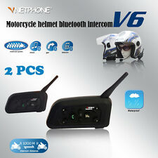 2* BT Motorcycle Helmet Bluetooth Headset V6-1200M Motorbike Intercom for Gifts