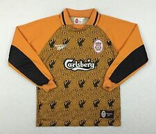 Vintage Reebok Liverpool 1996/97 Yellow Football Soccer Goalkeeper Jersey Youth