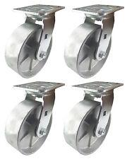 """6"""" x 2""""  Steel Wheel Caster - 4 Swivels"""