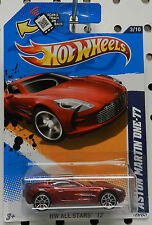 ASTON MARTIN RED MAROON 12 2012 ALL STARS ONE 77 123 HW HOT WHEELS