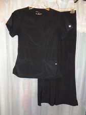 Scrub set by Cherokee, Perfect Stretch, size SP,  black, very nice condition