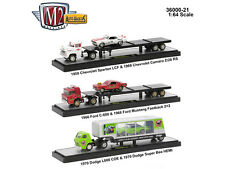 AUTO HAULERS RELEASE 21 3 TRUCKS SET 1/64 DIECAST MODELS BY M2 MACHINES 36000-21