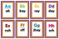 learn the FRENCH ALPHABET FLASH CARDS -TEACHING RESOURCE -CLASS/CHILDMINDER/HOME