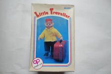 Little Traveller Wind-Up Toy - Soft Rubber doll with Tin Suit Case