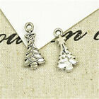 20pc Tibetan Silver Christmas tree Charm Beads Pendant Findings PL729