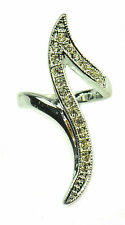FLAME LIKE UNIQUE LADIES FASHION RING ENCRUSTED WITH MULTIPLE DIAMATE (ZX1)