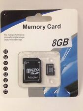LOT OF 10 NEW 8GB MEMORY SD CARD SDHC TF FLASH MICRO CLASS 4 WITH ADAPTER