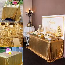 100*150cm Rectangular Sequin Tablecloth Table Cloth Wedding Party Event Decor