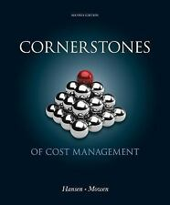 FAST SHIP - HANSEN MOWEN 2e Cornerstones of Cost Management                  R70