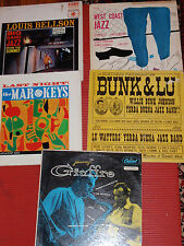 LOT OF 5 VINTAGE JAZZ RECORD ALBUMS ALL IN VERY FAIR ++ TO GOOD + CONDITION