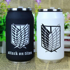 Anime Attack On Titan Stainless Steel Vacuum Cup Cafe Tea Thermos Mug Box B/W