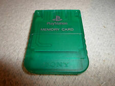 Official SCPH-1193 Clear Holiday Green Playstation 1 Memory Card US/Japan PS1