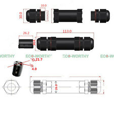 2 Way - 4 Core Connector Waterproof Sealed Electrical Connector Outdoor Using