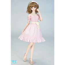 NEW Volks Super Dollfie Limited Outfit / Pink Check Dress Set