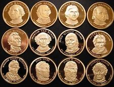 2007S-08S-09S / 12 PRESIDENTIAL PROOF DOLLARS WASHINGTON ADAMS JEFFERSON US COIN