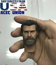 1/6 Wolverine Head w/ neck Old Hugh Jackman For Logan X-men U.S.A. SELLER