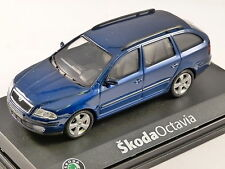 2004 SKODA OCTAVIA COMBI in Deep Blue 1/43 scale model by ABREX