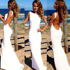 Sexy Women Backless Prom Gown Bodycon Ball Party Evening Formal Maxi Long Dress